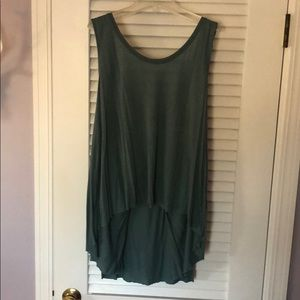 Free people teal tank top size M
